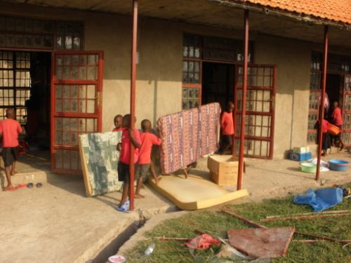 Boys Move Into Their New Dormitory