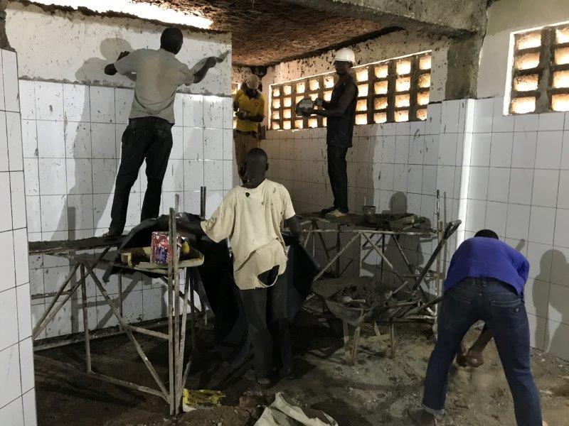 Kimbilio Builders finishing the workplace